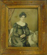 Biedermeierportait einer feinen Dame um 1820 In der Art von Franz Winterhalter
