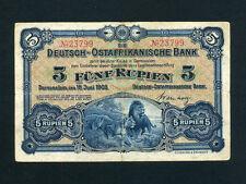 German East Africa(Tanzania): P-1,5 Rupien ,1905  * Lion & Lioness * VF *