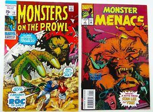 Marvel MONSTERS ON THE PROWL (1971) #10 + MONSTER MENACE (1993) #1 VG/FN + VF