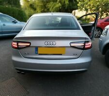 AUDI A4 B8 11-15 SALOON LED BLACK REAR LIGHTS WITH DYNAMIC SWEEPING INDICATORS