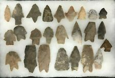 Ancient Native American Arrowheads Points - Set of 25 - Rna101