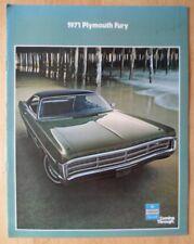 PLYMOUTH FURY orig 1971 USA Mkt Sales Brochure - Sport Fury GT I II III