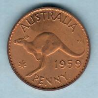 Australia.  1959 Perth - Penny..  Proof - Full Lustre