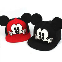 Cartoon Kids Boys Girls Mickey Mouse Ear Baseball Snapbacks Cap Hip Hop Sun Hats