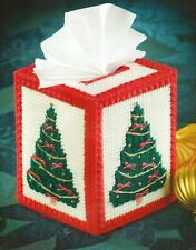 O Tannenbaum Tree Tissue Box Cover Christmas Plastic Canvas Pattern Instructions