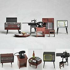 1:24 Vintage Japanese Furniture Dollhouse Miniature Fridge Magnet Figure Toys