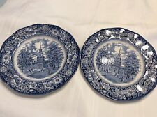 LIBERTY BLUE STAFFORDSHIRE IRONSTONE PLATE MADE IN ENGLAND, SOLD AS A PAIR