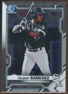 2021 Bowman Chrome Prospects #BCP-40 Yolbert Sanchez White Sox 1st Bowman