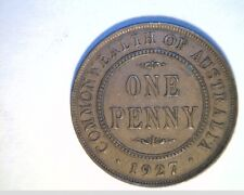 1927 Australia, Lg One Penny, Circulated High Grade Bronze Coin (Aust-96)
