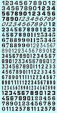 Numero Start Pagare nero Start Numeri nero 6,0 mm 1:43 Decalcomania Rimovibile