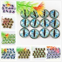 8-30mm 18 Colors Glass Dragon Eye Cat Eye Cameo Cabochons Jewelry 10/20/30/50pcs