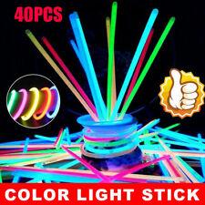 40X Colorful Fluorescent Stick Flowing Bracelet Vocal Concert Color Light Sticks