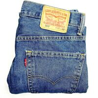 Levi's 550 Men's Size W30 L30 Blue Regular Straight Zip Medium Wash Denim Jeans