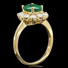 NEW /  EFFY / 1.35 CT Diamond & Emerald Ring / 14K Gold