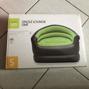 Active & Co Inflatable Single Lounge Lime - 71 x 96 x 78cm