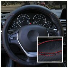 Car steering wheel cover four seasons universal non-slip PU leather cover 38 cm