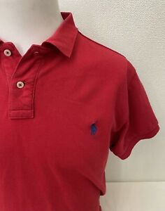 Polo Ralph Lauren - Red Short Sleeve Custom Fit Cotton Polo Shirt - Large