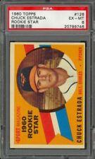 1960 Topps Chuck Estrada #126 - RC - Baltimore Orioles - PSA 6 - EX-MT
