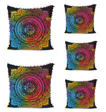 "5 Pcs Set Of 24X24"" Sofa Pillow Cover Floral Tie Dye Decorative Cushion Covers"