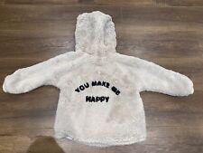 Zara Baby Girl Fur Hooded Jacket Coat Size 2 - 3 Years