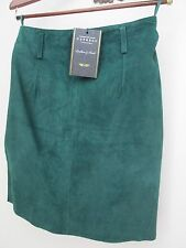 NWT Women's EXPRESS Green Sexy Suede Leather Mini Skirt 9/10