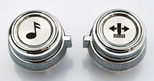 78-91 Chevy/GMC Truck Chrome Radio Volume & Tuner Knobs AM/FM Cassette