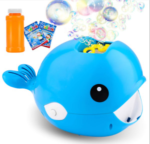 Bubble Machine Whale Fish Party Automatic Bubble Maker Indoor/Outdoor