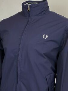 Fred Perry   Tipped Brentham Bomber Jacket M L (Blue) Mod Scooter Terraces 60s