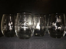 Christmas Wine Glasses- Set of 4