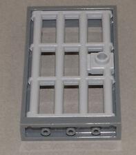 LEGO - Tür Rahmen dunkelgrau 1x4x6 m. Gittertür hellgrau / 60596 60621 NEUWARE
