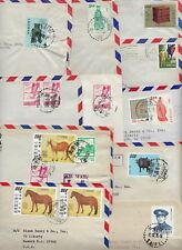 CHINA REPUBLIC 1950s 70s COLLECTION OF 20 COMMERCIAL AIR MAIL COVERS ALL W/ADVER