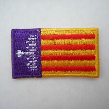mini Mallorca  Aufbügler,Aufnäher,Patch,Flagge,Flag 35 mm * 20 mm Spanien
