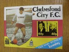 1985/1986 Chelmsford ciudad V Chelsea [amigable]. toda falla con este artículo Shoul