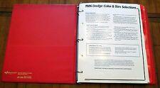 1986 DODGE COLOR & TRIM DEALER SHOWROOM BINDER-ALBUM