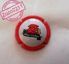 capsule de Bière rince cochon format QUART contour rouge Rare...!