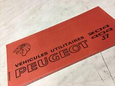 Peugeot 204 404 J7 1972 utilitaire catalogue prospectus brochure dépliant