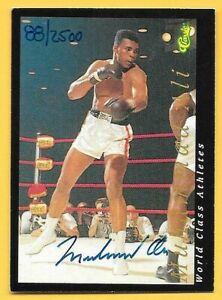 1992 Classic World Class Athletes Muhammad Ali On Card Autograph SP