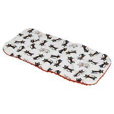 Universal Buggy Pram Stroller LINER INSERT Washable kitty – red