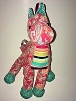 """Douglas Red And Blue Horse With Designs  9"""" Plush Stuffed Animal"""