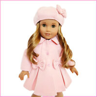 Pastel Pink Coat Fits 18 Inch American Girl Dolls- 18 Inch Doll Clothes