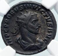 PROBUS Invictvs Genuine Ancient 276AD Serdica Roman Coin PROVIDENTIA NGC i85498