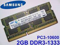 2GB DDR3-1333 PC3-10600 SAMSUNG M471B5673EH1-CH9 1333Mhz LAPTOP RAM SPEICHER