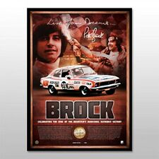 PETER BROCK BATHURST SIGNED 40TH ANNIVERSARY V8 SUPERCARS LIMITED EDITION PRINT