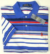 NWT $89 Polo Ralph Lauren Mesh Shirt Men S L Stripe Short Sleeve Blue Cotton NEW