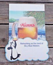 1970s Hamm'S Beer Bear Sign Pos Store Display cardboard Unused Glass Mug