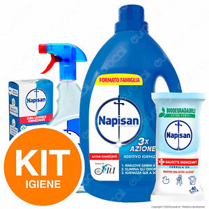 Napisan Spray + Additivo Liquido + Igienizzante + 40 Salviette Bio Igiene Trial