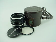 Minolta 35mm F/4 W.Rokkor QE Wideangle Lens MC Mount W/Caps & Leather Case-Clean
