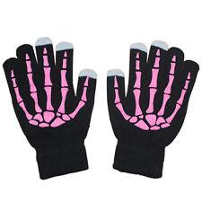 Unisex Knitted Wool Luminous Skeleton Full Finger SmartPhone Touch Screen Gloves