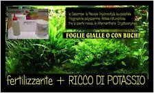 pmdd  FERTILIZZANTE PIANTE ACQUARIO    + RICCO DI POTASSIO
