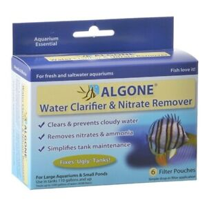 ALGONE Water Clarifier & NItrate Remover Freshwater Saltwater Aquarium Tank